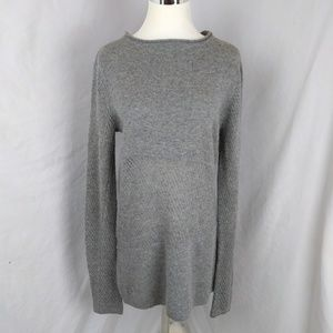 Cullen grey sheer mesh 100% cashmere sweater soft